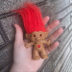 Vintage Red Troll Doll Action Figure